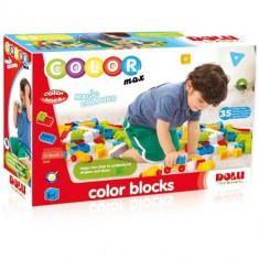 Cuburi Colorate de Construit 35 Piese - Set de constructie