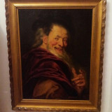 Tablou -Democrit .Ulei pe panza - Tablou autor neidentificat, Portrete, Altul