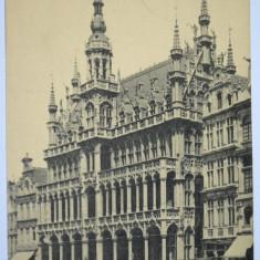 Carte postala veche Belgia- Postkarte - Bruxelles Maison du Roi, Circulata, Fotografie