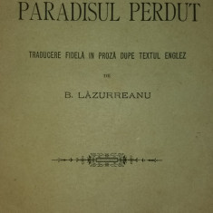 JOHN MILTON – B. LAZUREANU – PARADISUL PIERDUT