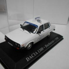Macheta Dacia 1300 - Taxi Perrozzi - 1980 scara 1:43 - Macheta auto