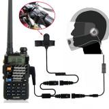 Set casti si microfon statii portabile pentru casti moto