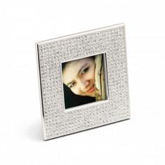 Rama foto argintata patrata Diamond