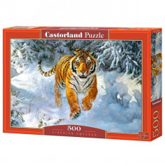 Jucarie Puzzle tigrul siberian Emperor 500 pcs Castorland