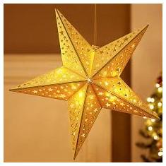 Stea luminoasa din lemn i-glow