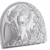 Iisus Hristos, Icoana lucrata pe Foita de Argint, 6x6cm