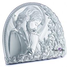 Icoana de Argint Iisus Hristos, 20x17cm, Cod Produs:836