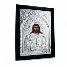 Iisus Hristos, 30X40cm, Argintie cu Rama Neagra, Dreptunghiulara,Cod Produs:907