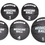Minge medicinala cauciuc negru 4 kg - Minge Fitness
