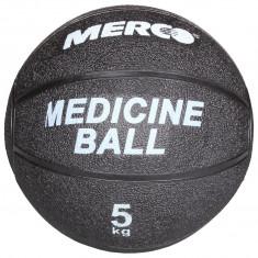 Minge medicinala cauciuc negru 5 kg - Minge Fitness Merco