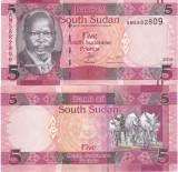 Sudanul de Sud  5 Pounds 2015 UNC