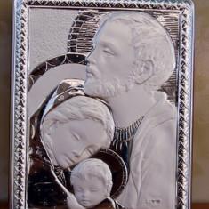 Icoana de Argint Sfanta Familie, 15X18cm, Cod Produs:817
