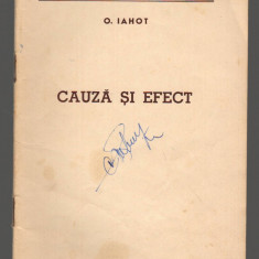 (C7817) CAUZA SI EFECT DE O. IAHOT - Carte Economie Politica