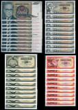40xUNC Iugoslavia:10x 5000 /1992, 10x 1000 /1978, 10x 500 /1978, 10x 100 /1965