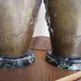 Doua vase   semnate  - L & F Moreau -  Franta