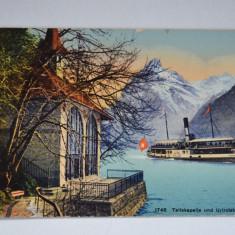 Carte postala veche Elvetia - Postkarte - Telleskapelle and Urirotstock - Swiss, Circulata, Fotografie