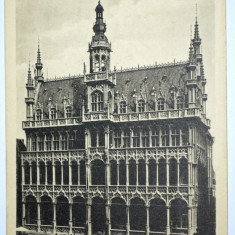 Carte postala veche Belgia- Postkarte - Brussel Bruxelles Konigshause, Circulata, Fotografie