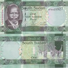 Sudanul de Sud 1 Pound 2011 UNC - bancnota africa