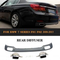 Difuzor Bara Spate + Ornamente Toba BMW seria 7 F01 2008-2013 AL-220817-25 - Bara Spate Tuning, Mercedes-benz