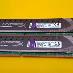 Kit 8GB DDR3 Desktop Kingston HyperX Genesis 1866MHz CL11 Dual Channel Kit - Memorie RAM
