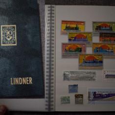 TS171 -clasor cu timbre motiv Locomotive si trenuri, nou A4