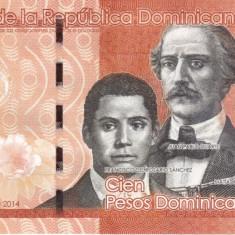 Republica Dominicana 100 Pesos 2014 UNC - bancnota america