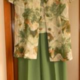 COSTUM DAMA PANTALON, VESTUTA, JACHETA -PENTRU OCAZII (VARA), Marime: 38, Culoare: Verde