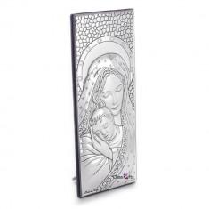 Maica Domnului si Pruncul, Foita de Argint 925, 7X3cm, Cod Produs:1218