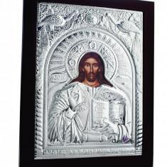 Iisus Hristos, 25X31cm, Argintie cu Rama Maro, Dreptunghiulara, Cod Produs:938