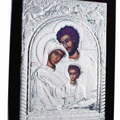 Sfanta Familie, 30X40cm, Argintie cu Rama Neagra, Dreptunghiulara, Cod Produs:910