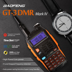 Statie portabila digitala Baofeng GT-3 DMR Mark IV + Cablu programare - Statie radio