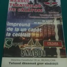 MERSUL TRENURILOR DE CĂLĂTORI *2001-2002 - Carti Transporturi