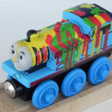 Thomas and Friends ✯ Rare Wooden Railway ✯ PAINT THOMAS ✯  Magnetic Train ✯ 2003