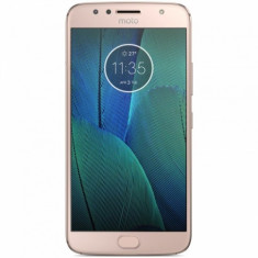 Smartphone Motorola Moto G5S Plus, Dual Sim, 5.5 Inch FullHD, Octa Core, 3 GB RAM, 32 GB, Retea 4G, Android Nougat 7.1, Fine Gold - Telefon Motorola