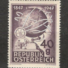 Austria. 1947 100 ani telegraful KZ.330, Nestampilat