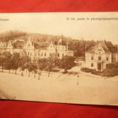 Ilustrata Brasov -Posta, circulat 1916, cenzura Militara Ed. Vasuti Levelez - Carte Postala Transilvania 1904-1918, Circulata, Printata