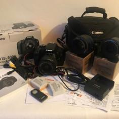 Canon 600D-Pachet foto/video DSLR aproape nou - cu GARANTIE! - Aparat foto DSLR