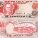 Filipine 20 Piso 1969 UNC - bancnota asia