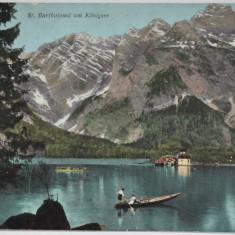Carte postala veche Elvetia - Postkarte - St. Bartholomä am Königsee, Circulata, Fotografie