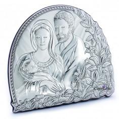 Icoana de Argint Sfanta Familie, 20X17cm, Cod Produs:833