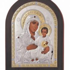 Icoana 10x14cm Maica Domnului de la Ierusalim Aur, Cod Produs:1510