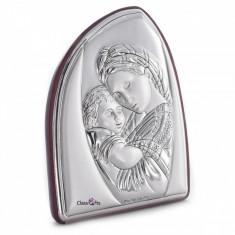 Maica si Pruncul, Icoana pe Foita de Argint, 6x7.5cm, Cod Produs:828