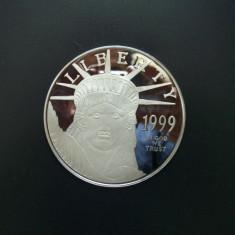 Lingou de argint - tip moneda 99, 9% de 4 troy oz (126 Grame), America de Nord