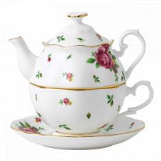 Set ceai Tea for One (ceasca + ceainic) New Country Roses White