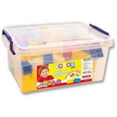 Cutie cu 48 Cuburi Colorate - Jocuri Forme si culori
