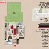 Apartament 2 camere Brasov, Strada Nicolae Labis - Apartament de vanzare, 49 mp, Numar camere: 2, An constructie: 2017, Parter