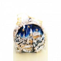Lumanare Craciun glob cu peisaj - Lumanari de Craciun