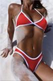 Bikini Mini Boxeri Chilotei Sexy in V Straps Costum de Baie Chiloti Brazilieni, Gri, Negru, Rosu, Slip, M