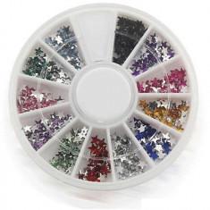 3D Decoratiuni Unghii cu Stelute Multicolore 300bc