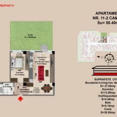 Apartament 2 camere, Brasov, Strada Nicolae Labis - Apartament de vanzare, 50 mp, Numar camere: 2, An constructie: 2017, Parter